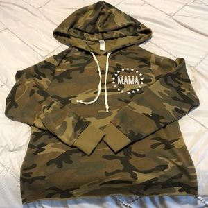 Brand new mama army hoodie American apparel Small